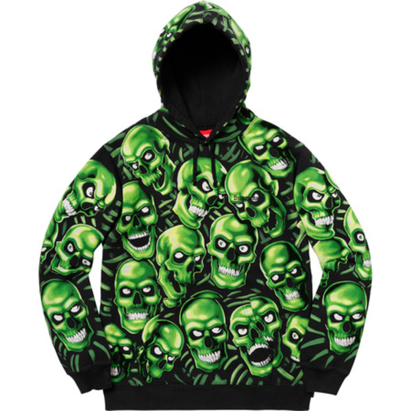 [해외] 슈프림 스컬 파일 후드 Supreme Skull Pile Hooded Sweatshirt 18SS