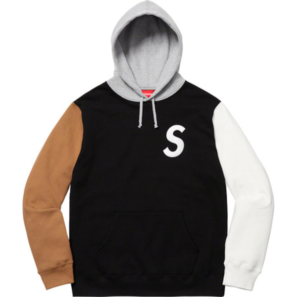 [해외] 슈프림 S로고 컬러블록드 후드 Supreme S Logo Colorblocked Hooded Sweatshirt 19SS