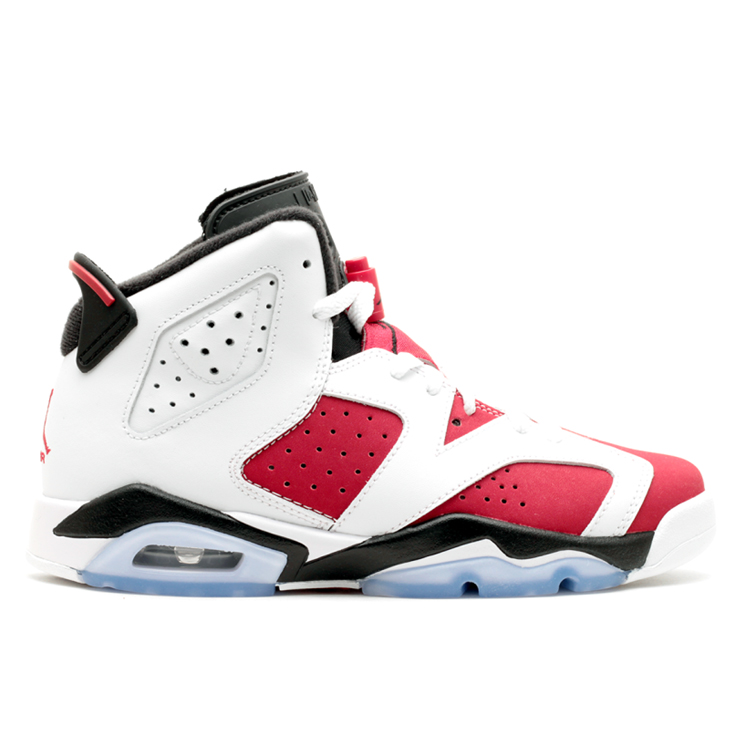 나이키 에어조던 6 카마인 GS NIKE AIR JORDAN 6 RETRO CARMINE 384665-160